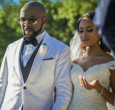 banky w adesua steals show nigerian entertainers