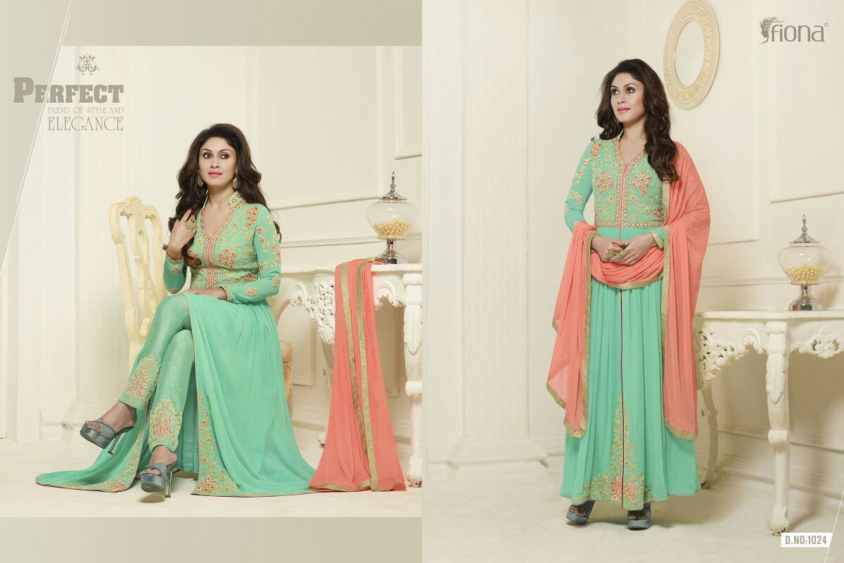 FIONA – MANJARI-Stylish Faux Georgette Heavy Salwar Suit
