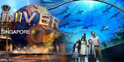 Universal Studio Singapore menjadi pilihan terdekat