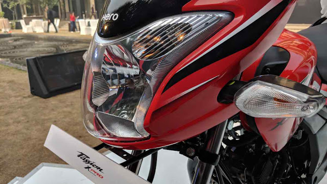 New Hero Passion XPro 2018 Headlight pics