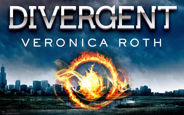 The novel Divergent, written by Veronica Roth