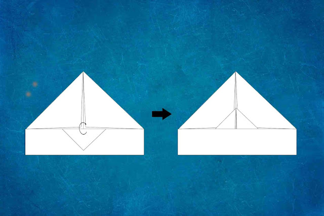 how to make a paper plane step 4
