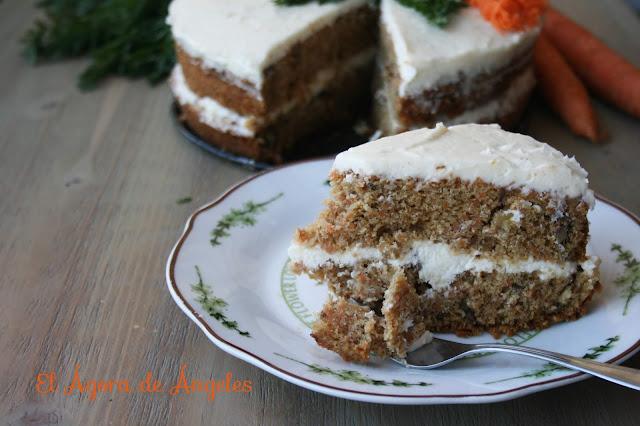 carrot cake, tarta de zanahoria