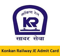 Konkan Railway JE Admit Card