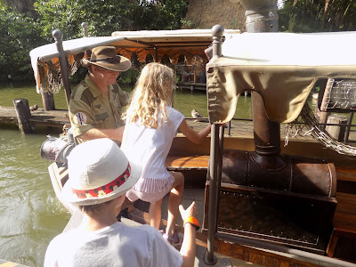 Boarding the Jungle Cruise