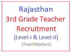 image : Rajasthan 3rd Grade Teacher Recruitment 2018 @ TeachMatters