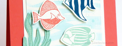 Stampin' Up! Seaside Shore By the Shore card #stampinup www.juliedavison.com Stamp of the Month Club Card Kit