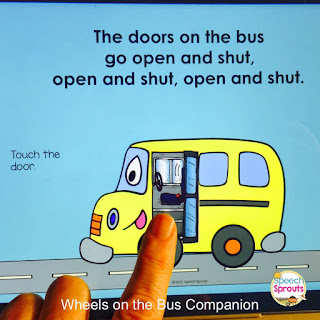 Wheels on The Bus Interactive Speech and Language Activities www.speechsproutstherapy.com
