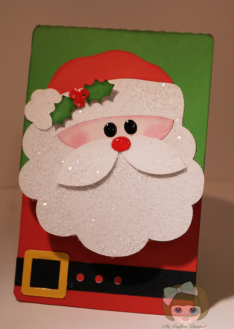 My crafting channel paper playtime 23 sparkle for Santa cards pinterest