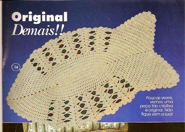 Tapete De Crochet Em Forma De Peixe Grafico Para Imprimir Arte