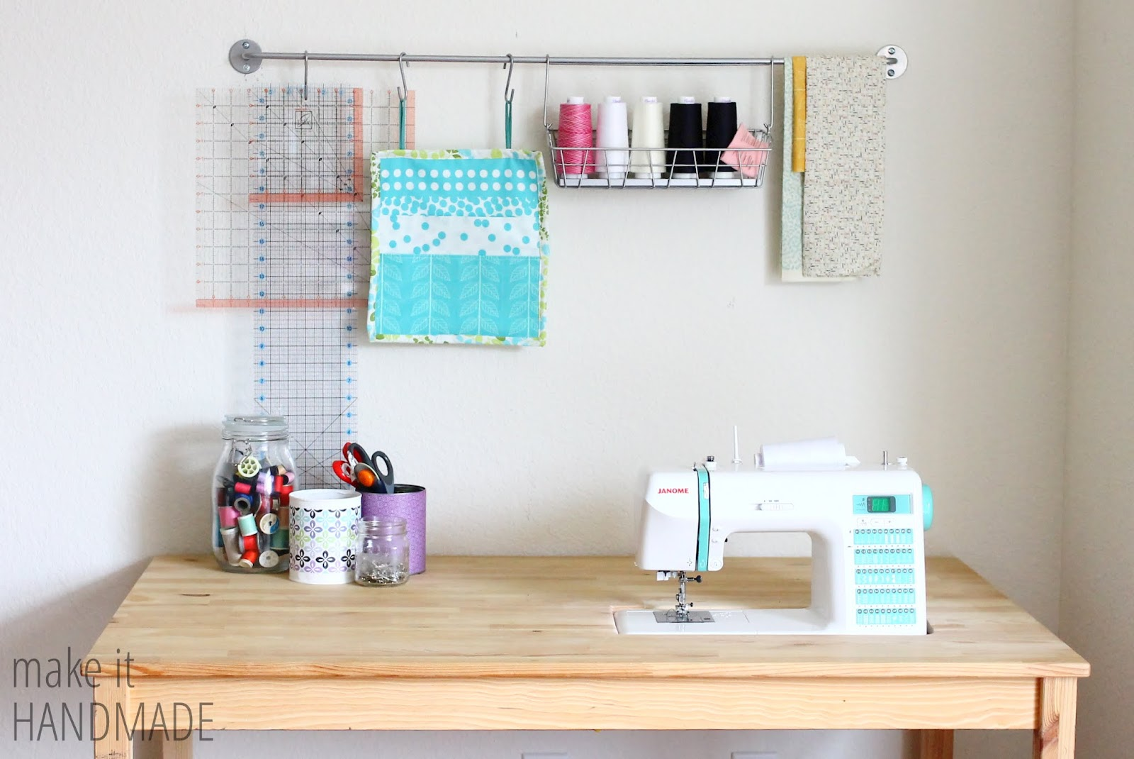 make it handmade easy diy ikea sewing table hack. Black Bedroom Furniture Sets. Home Design Ideas