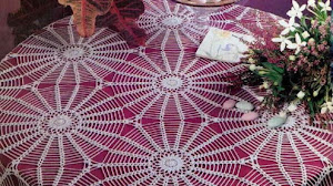 Fino mantel tejido al crochet / esquema