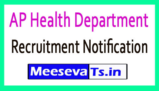 AP Health Department Recruitment