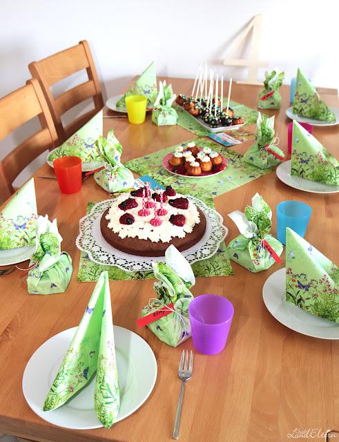 Kindergeburtstag - Geschenkideen - Kuchentafel - 4. Geburtstag