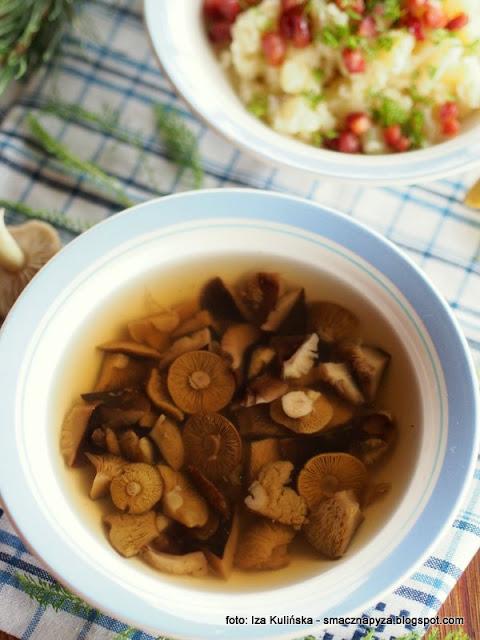 rosol z prosnianek, zupa gaskowa, zupa z zieleniatek, gaski zielonki, gaska zielona, grzyby, bulion grzybowy, zupa z grzybow, zupa dnia, domowe jedzenie, kurpie, kuchnia regionalna