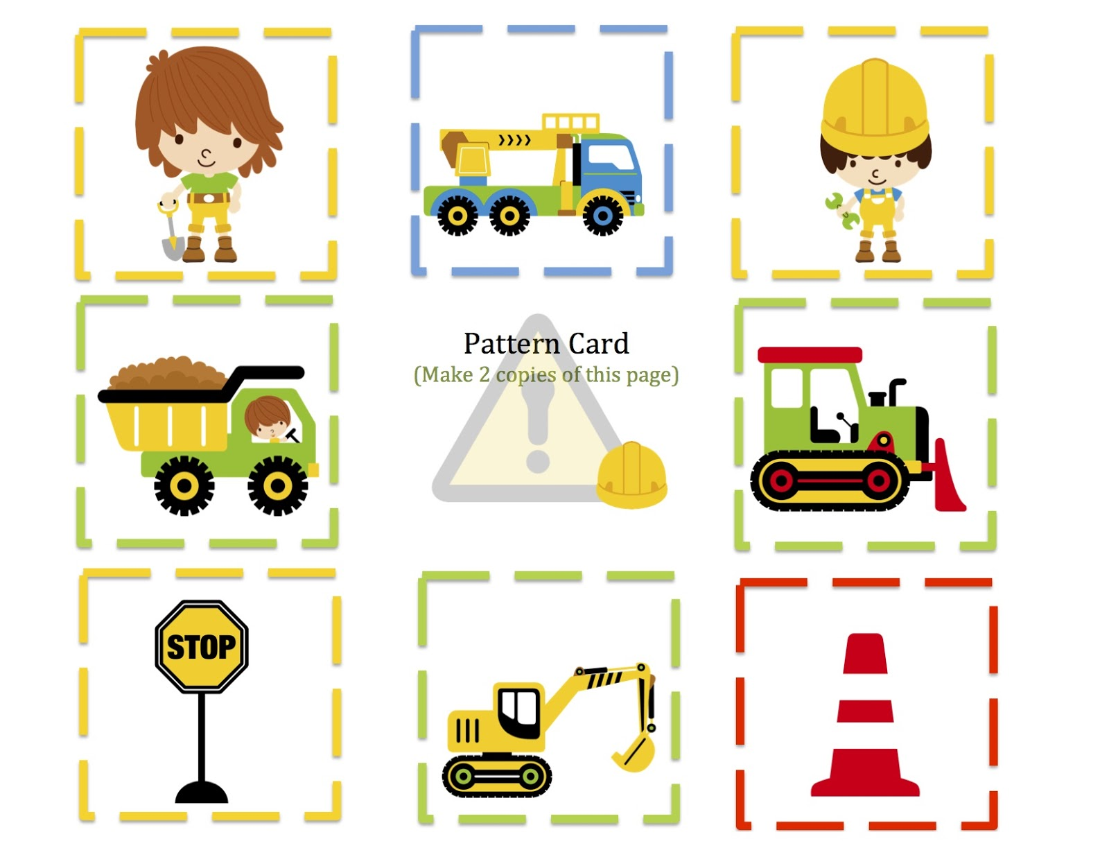 Construction Zone Printable Preschool Printables
