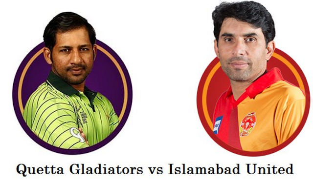 PSL Match 7: Quetta Gladiators vs Islamabad United Watch Live