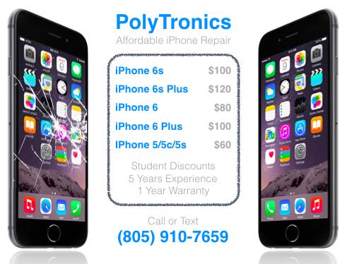 PolyTronics IPhone Repair SLO: Cracked Shattered Broken IPhone