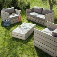 Ideas con pallets de madera para el jardín