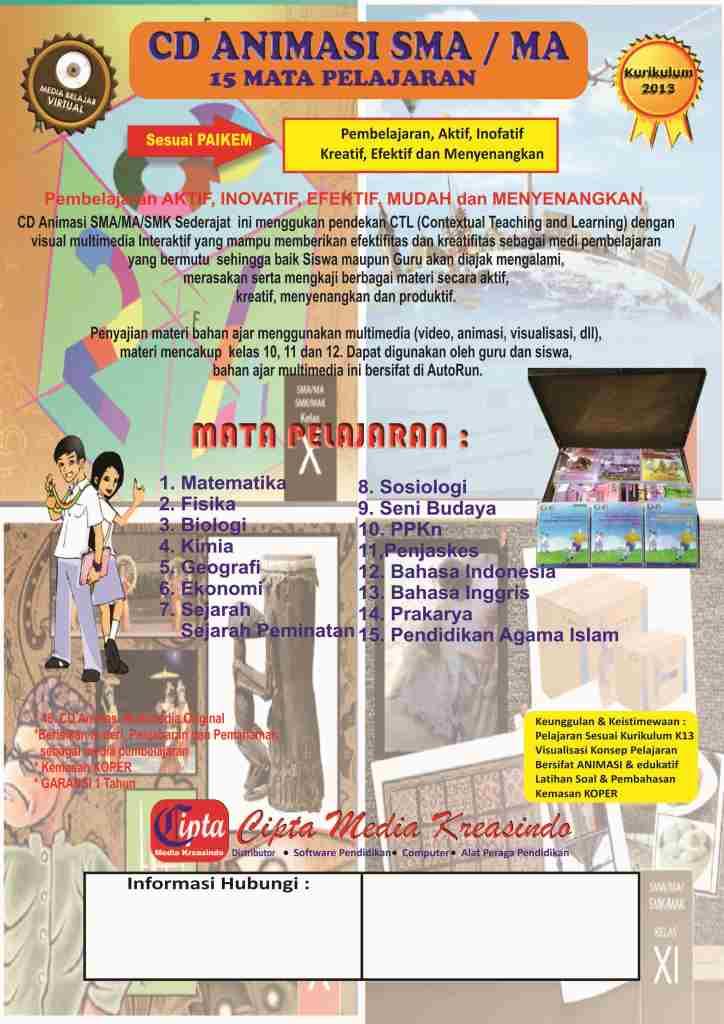 CD PEMBELAJARAN INTERAKTIF ANIMASI SMK