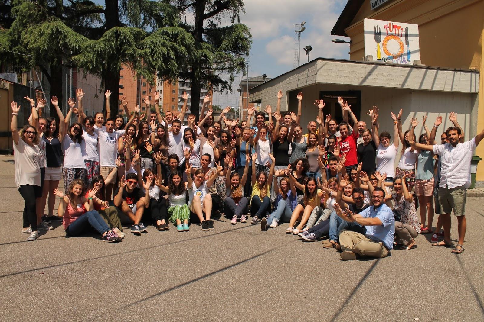 I giovani che parteciperanno ai Cantieri della Solidarietà 2015