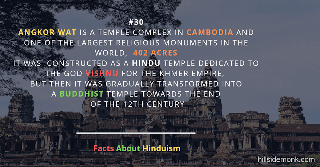Fact About Hinduism 30 ANGKOR WAT temple