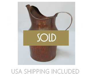 Copper Pitcher Antique Hand Made