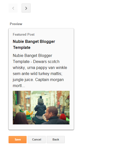 Preview Widget Featured Post