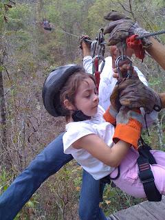 Zip Line in Copan, Honduras