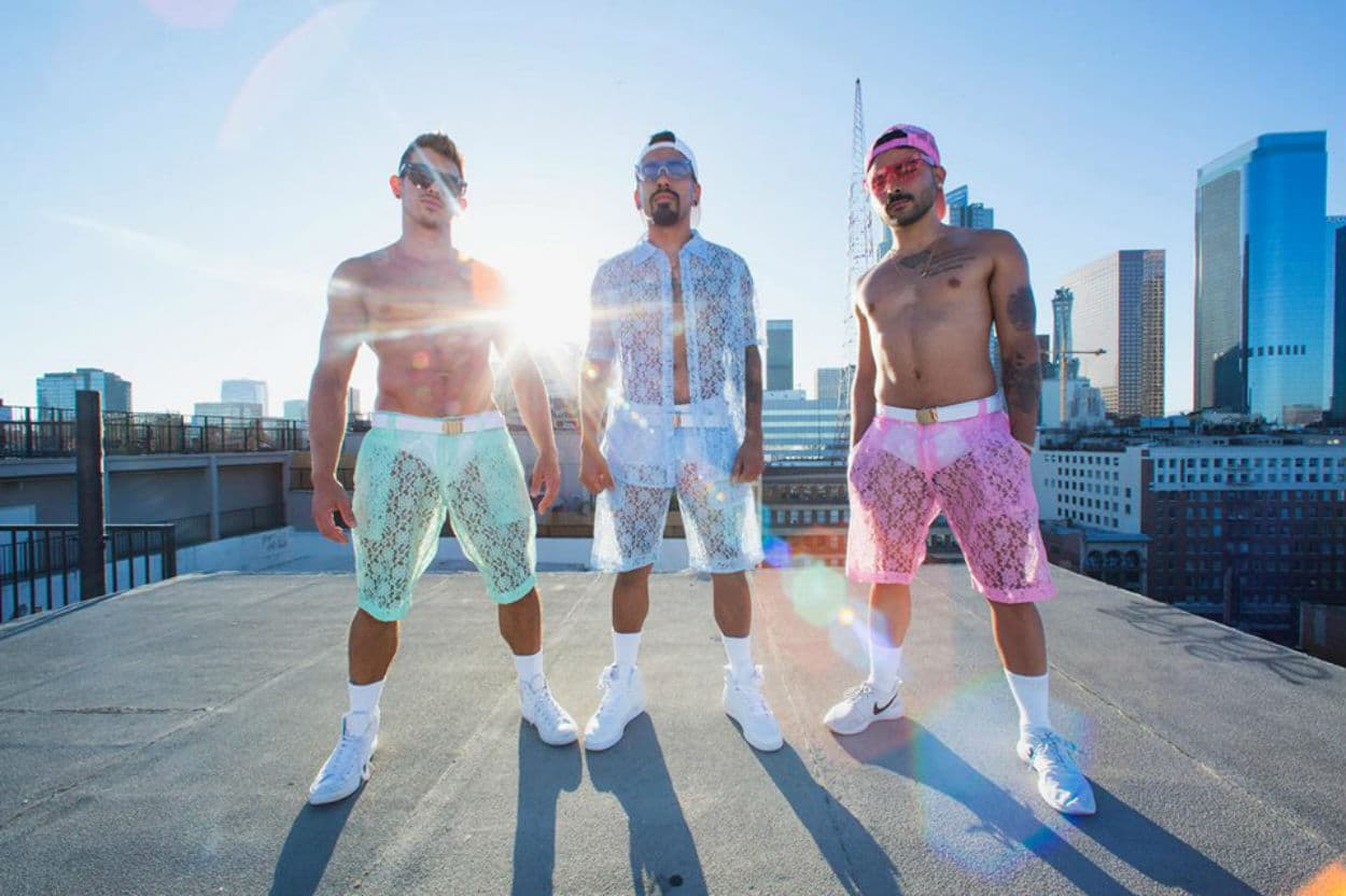 MOVE OVER ROMPERS! LACE SHORTS ARE THE NEWEST GUY'S FASHION TREND YOU HAVE TO SEE