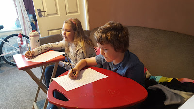 Top Ender and Dan Jon Jr practising their Maths Skills. Is it a talent or a skill?!