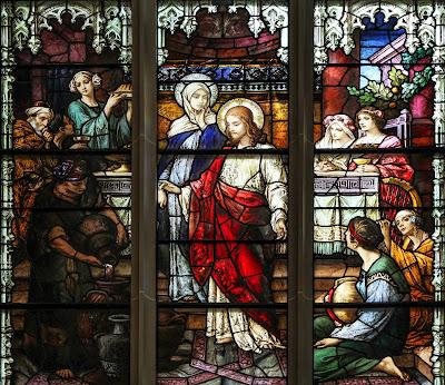 Imagens do casamento em Caná da Galileia, vitral, #3