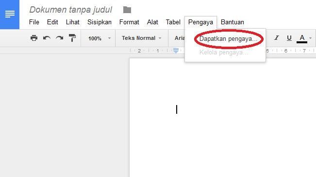 Pengaya Google Dokumen