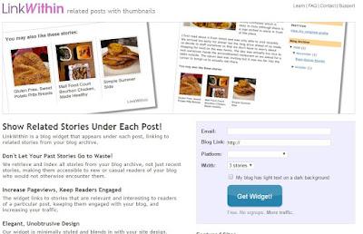 Como instalar LinkWithin para Blogger