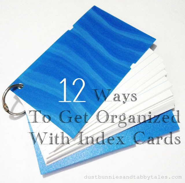 12 Ways to Get Organized with Index Cards