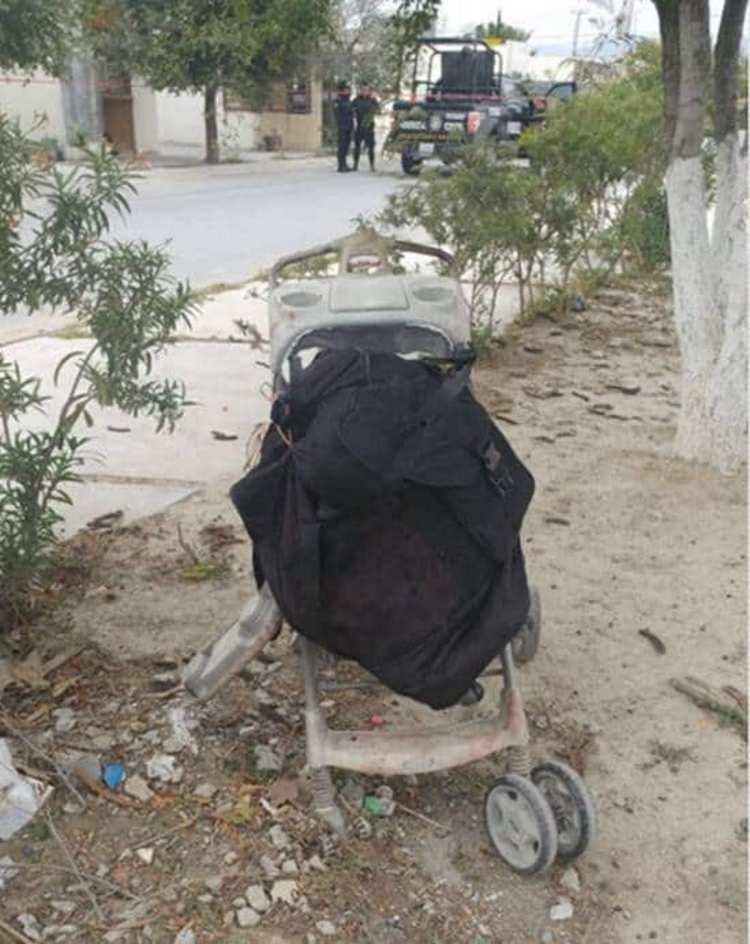 Encuentran cuerpo de mujer desmembrada en una carriola en Nuevo León