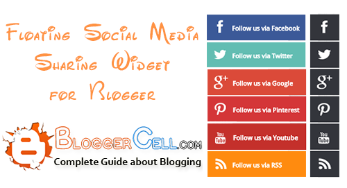Attractive Social Media Buttons Floating Widget for Blogger