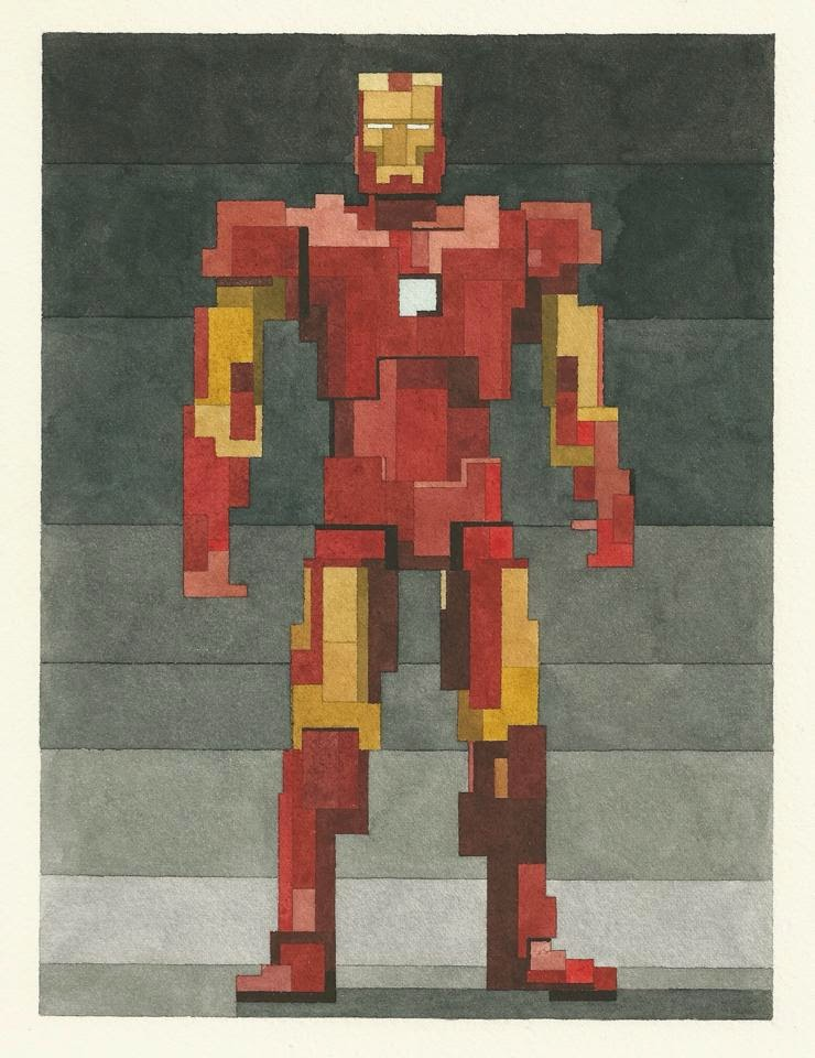 Pixelated Iron Man