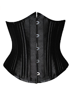 steampunk womens fashion black underbust corset