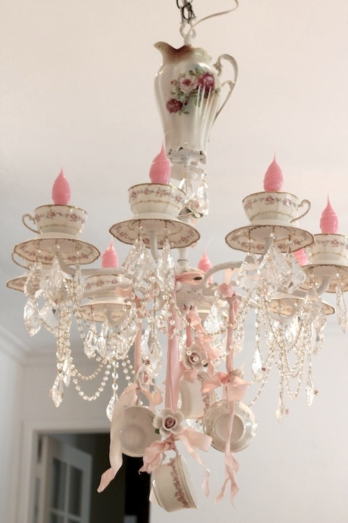 teacup chandelier ideas shabbyfufu.com