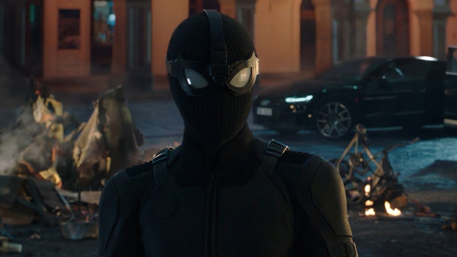 Spider Man Far From Home Stealth Suit 4k Wallpaper 3