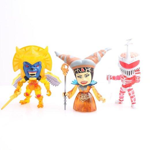 Loyal Subjects Power Rangers Exclusive Metallic Red Ranger Versus Goldar Figures