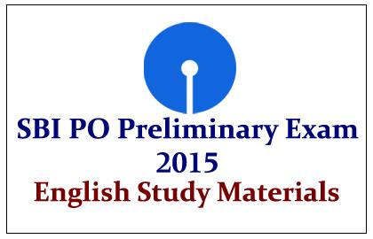 SBI PO Preliminary Exams 2015