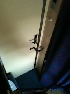 Our cabin door has a lock!