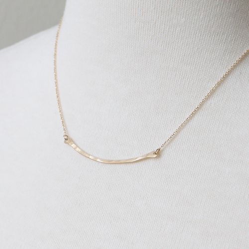 Single Bar Necklace by Peggy Li Creations