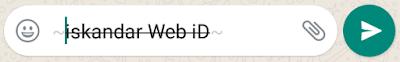 Cara merubah huruf whatsapp berwarna