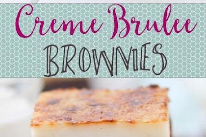 SWEET CREME BRULEE BROWNIES