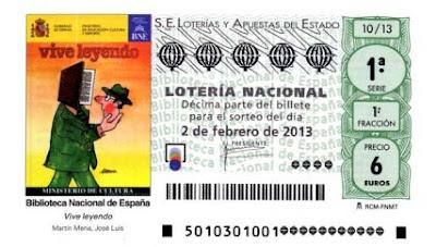 Detalle de los décimos del sorteo de Lotería Nacional del 2 de febrero