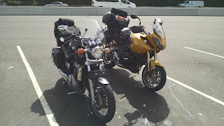 Hades and Bumblebee on the Merritt Parkway