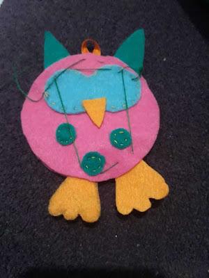 Cara Membuat Boneka Burung Hantu dari kain Flanel